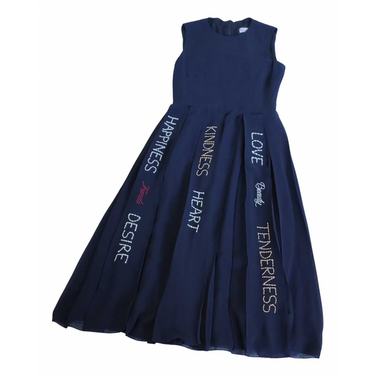 Red Valentino Garavani \N Blue dress for Women 38 IT