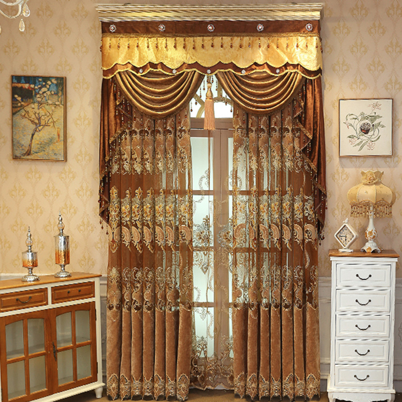 Beddinginn Jacquard Valance Decoration Modern Curtain