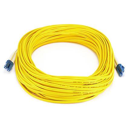 Câble fibre optique, LC/LC, mode unique, duplex (type 9/125) - jaune - Monoprice® - 25m