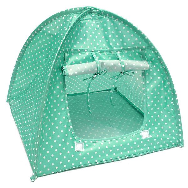 Pet Mini Nylon Camp Tent Bed Puppy Play House Sun Shelter Kitten Cat Kitten For Travel Garden