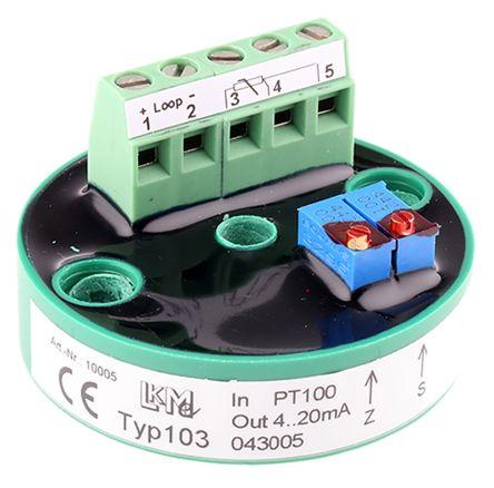 LKMelectronic LKM 103 Temperature Transmitter PT100 Input, 24 V