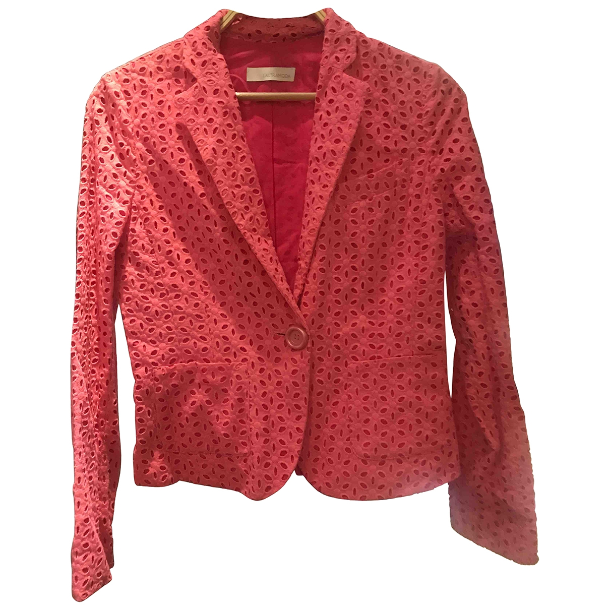 Non Signé / Unsigned \N Pink Cotton jacket for Women 42 IT