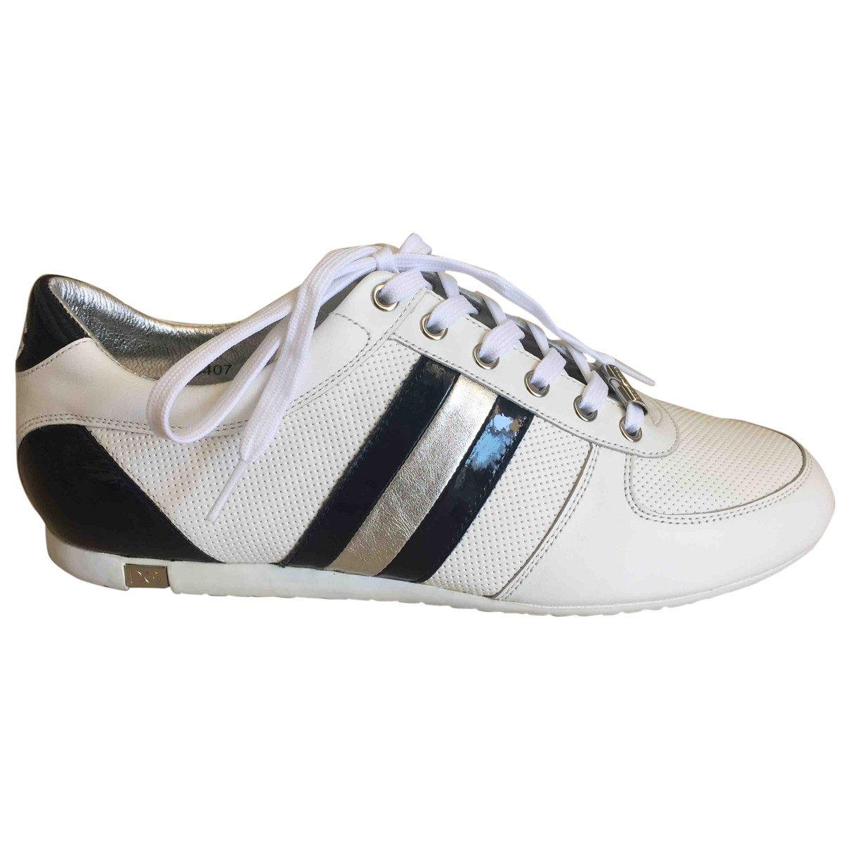 Dolce & Gabbana \N White Leather Trainers for Men 9 UK