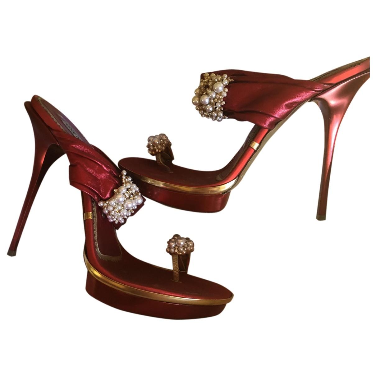 Gianmarco Lorenzi \N Red Cloth Heels for Women 37 EU