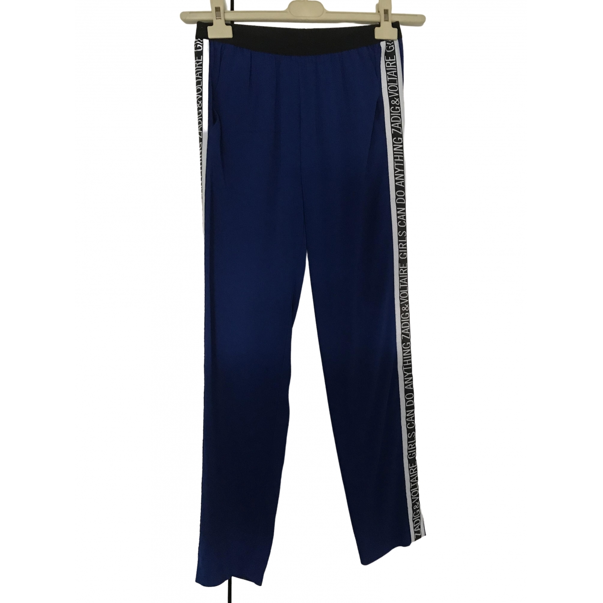 Zadig & Voltaire \N Blue Trousers for Women 34 FR