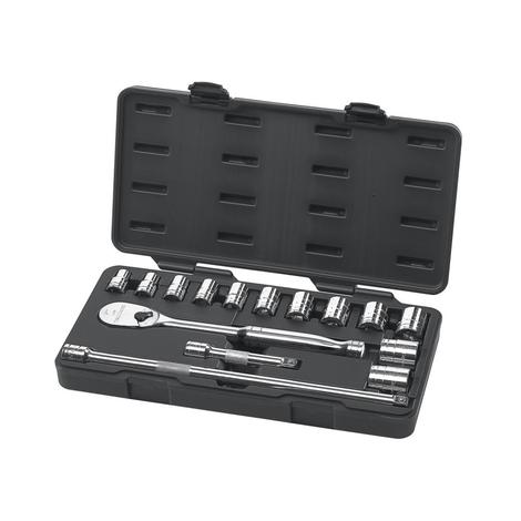 GearWrench Mechanics Tool Set 15 pc. 1/2 In. Drive 6 Point SAE