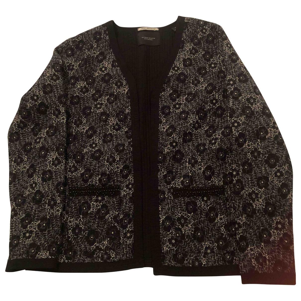 Maison Scotch \N Black Cotton jacket for Women 3 0-5