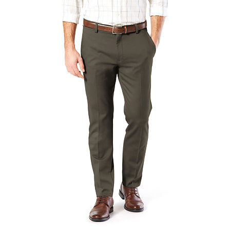 Dockers Men's Slim Fit Easy Khaki with Stretch Pants, 29 30, Green