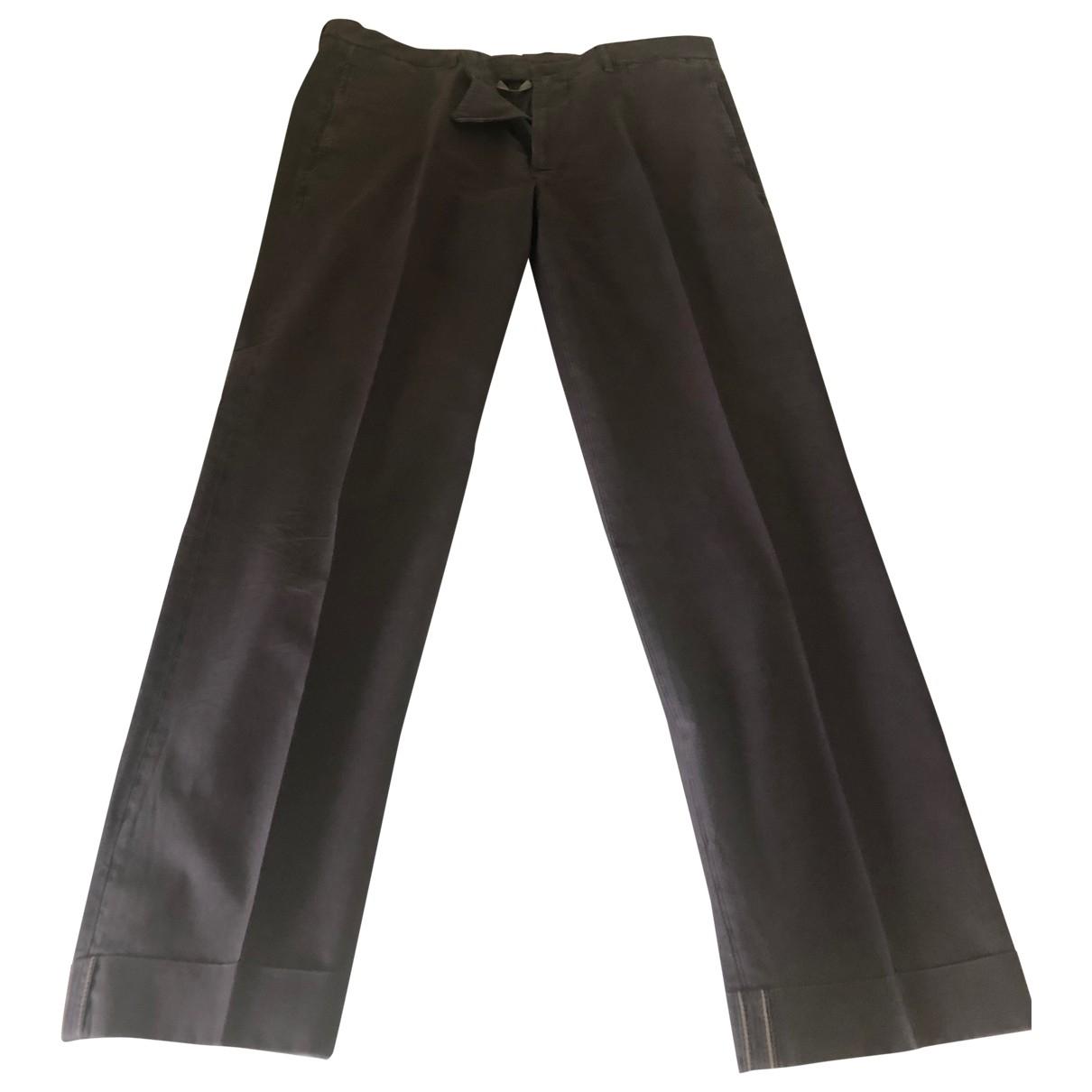 Brunello Cucinelli \N Grey Cotton Trousers for Men 52 IT
