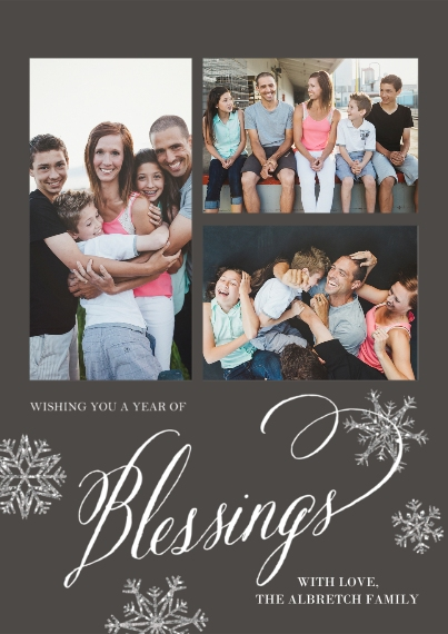Christmas Photo Cards Flat Glossy Photo Paper Cards with Envelopes, 5x7, Card & Stationery -Blessed Snowfall