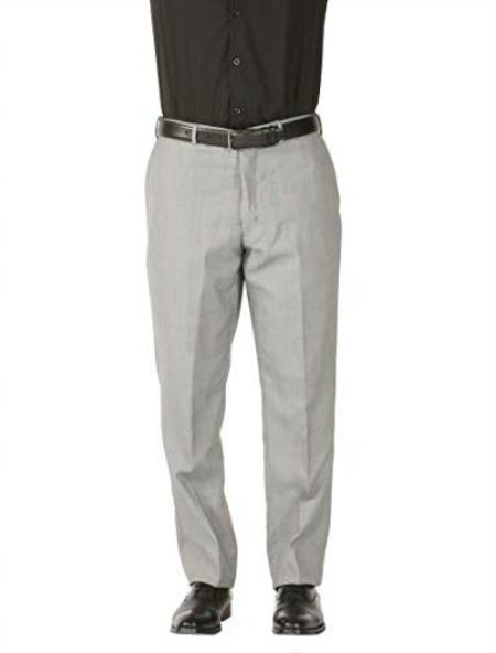 Mens Wool Blend Wiast Stain Defender Modern Fit Dress Pants No Pleated