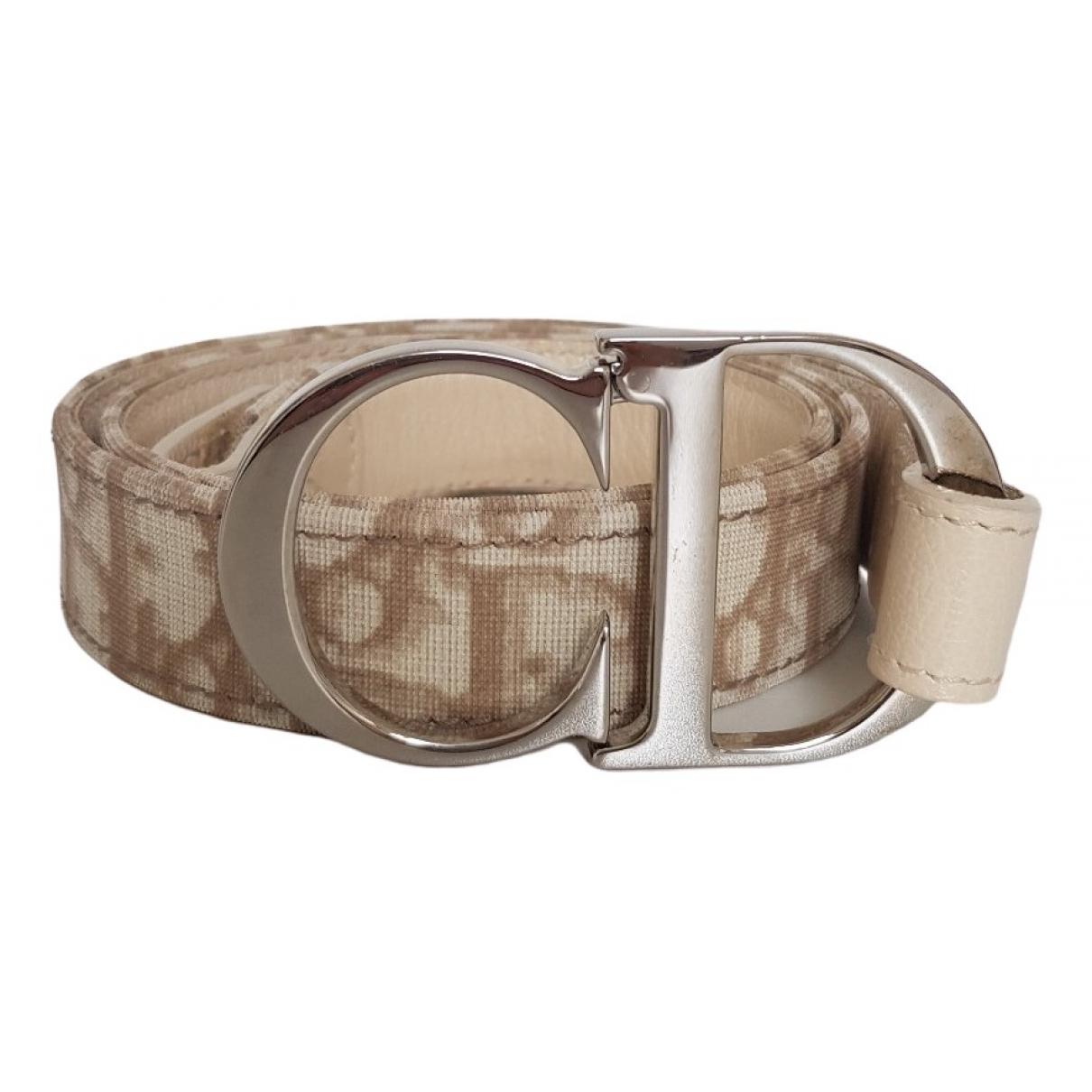 Dior \N Ecru Cloth belt for Women 80 cm