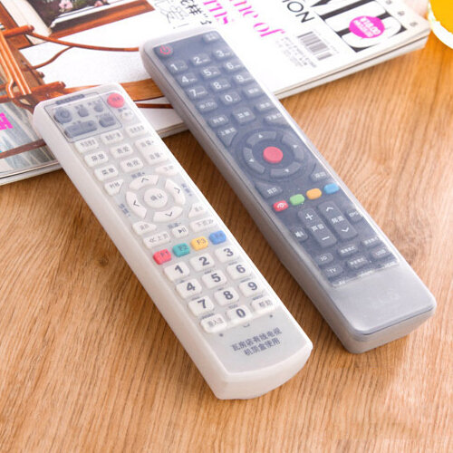 Silicone Rubber TV Remote Control Dust Cover Protective Gear Storage Bag