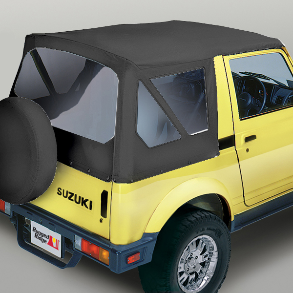 Rugged Ridge 53701.15 Soft Top, Black Denim, Clear Windows; 86-95 Suzuki Samurai Hyundai Elantra 2003