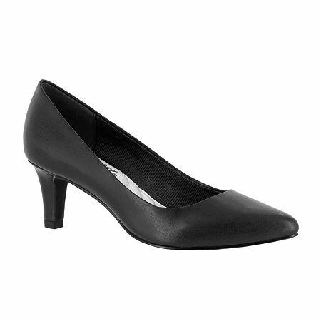 Easy Street Womens Pointe Pumps Spike Heel, 9 Extra Wide, Black