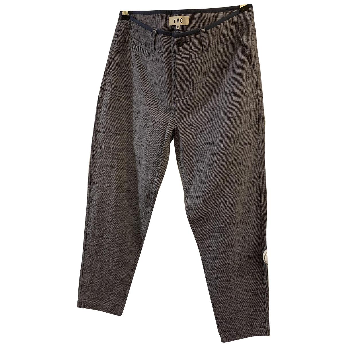 Ymc \N Blue Cotton Trousers for Men 32 UK - US