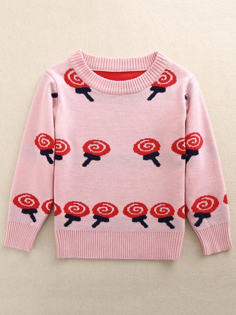 Ericdress Lovely Lollipop Print Long Sleeve Sweater