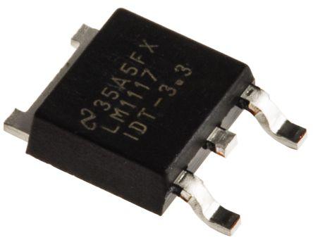 Texas Instruments LM1117IDT-3.3/NOPB, LDO Regulator, 800mA, 3.3 V, ±1% 3-Pin, DPAK (5)