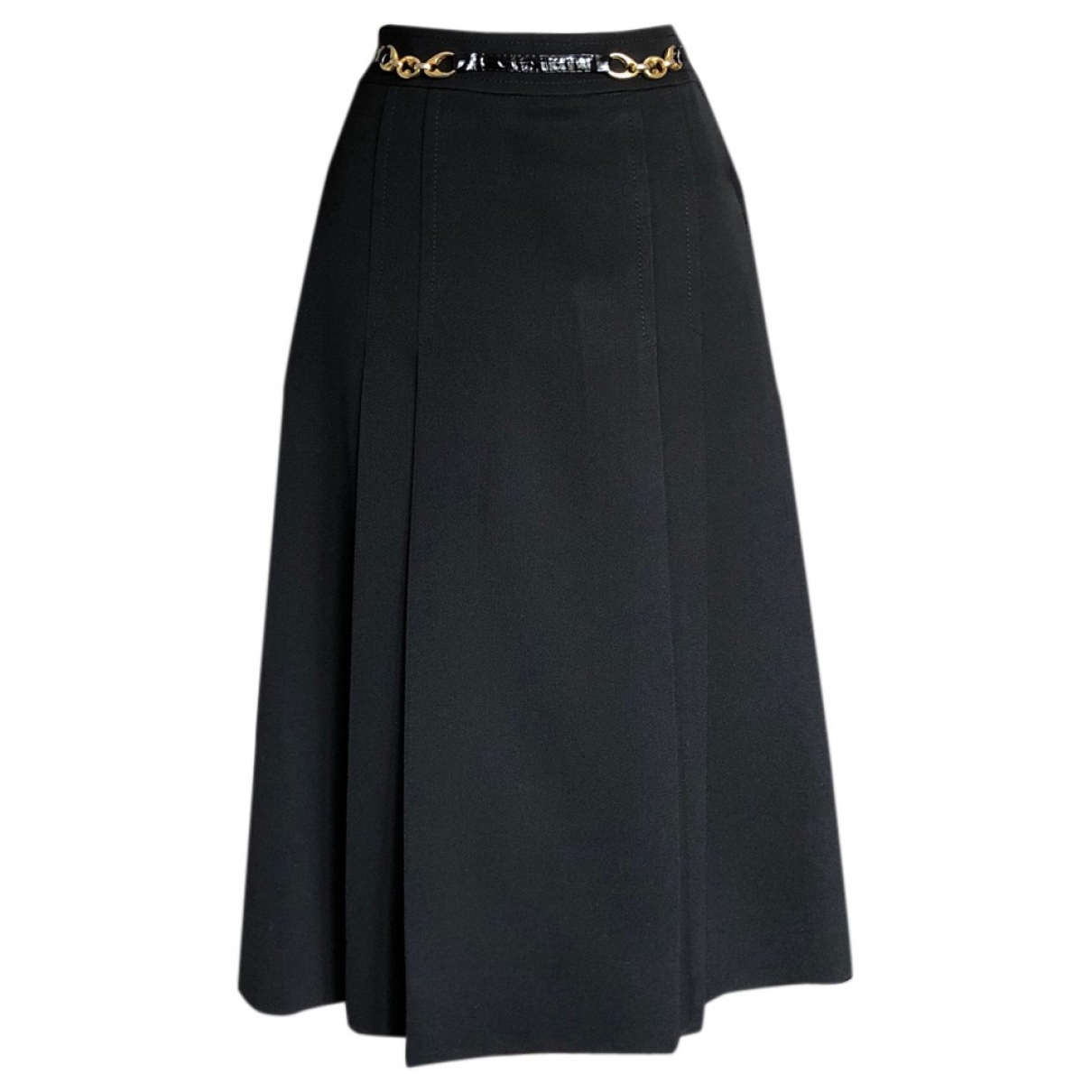 Celine \N Black Wool skirt for Women 38 FR
