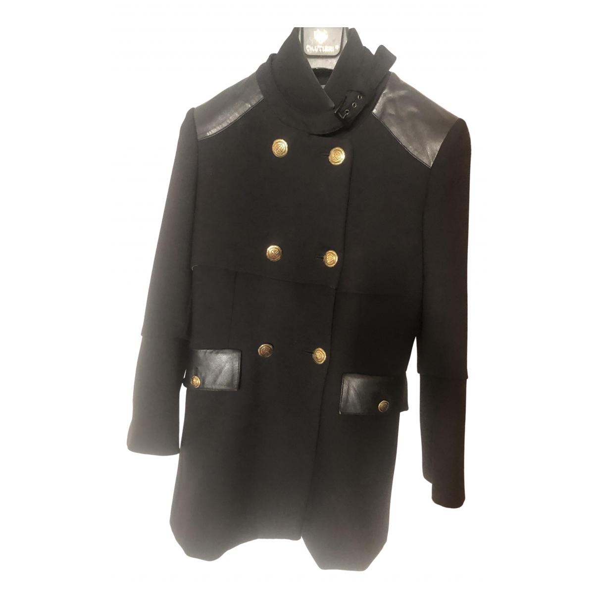 Pinko \N Black Wool coat for Women 42 IT