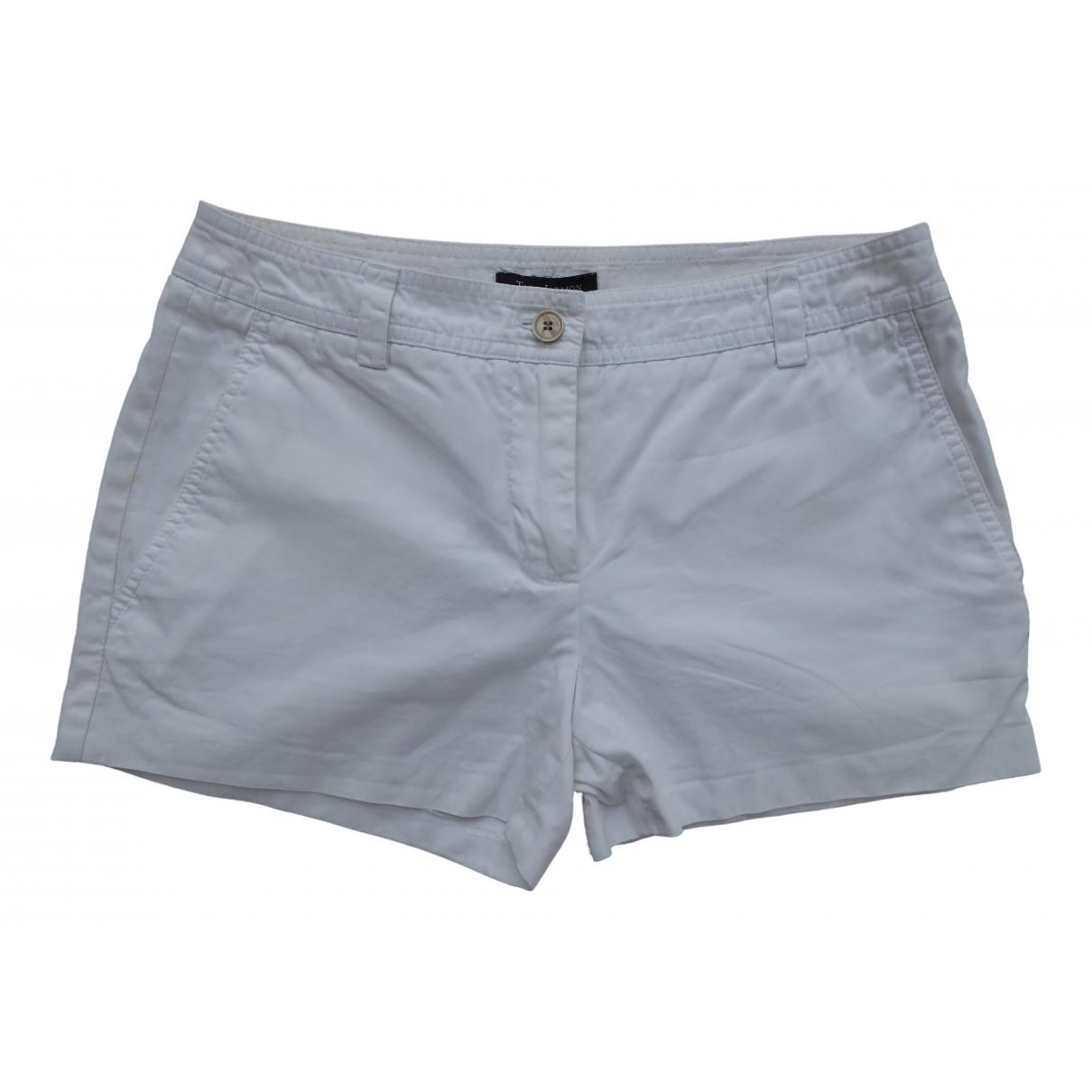 Tara Jarmon \N White Cotton Shorts for Women 36 FR