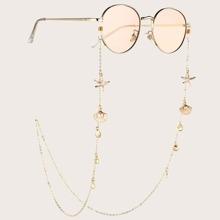 Shell & Starfish Decor Glasses Chain