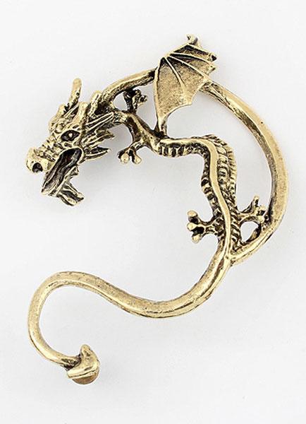 Milanoo Metallic Dragon-shaped Ear Cuff