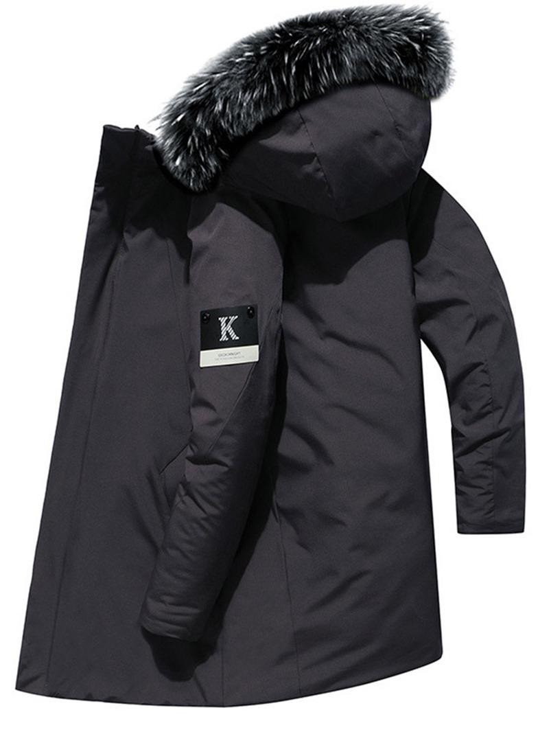 Ericdress Mid-Length Zipper Hooded European Men's Down Jacket
