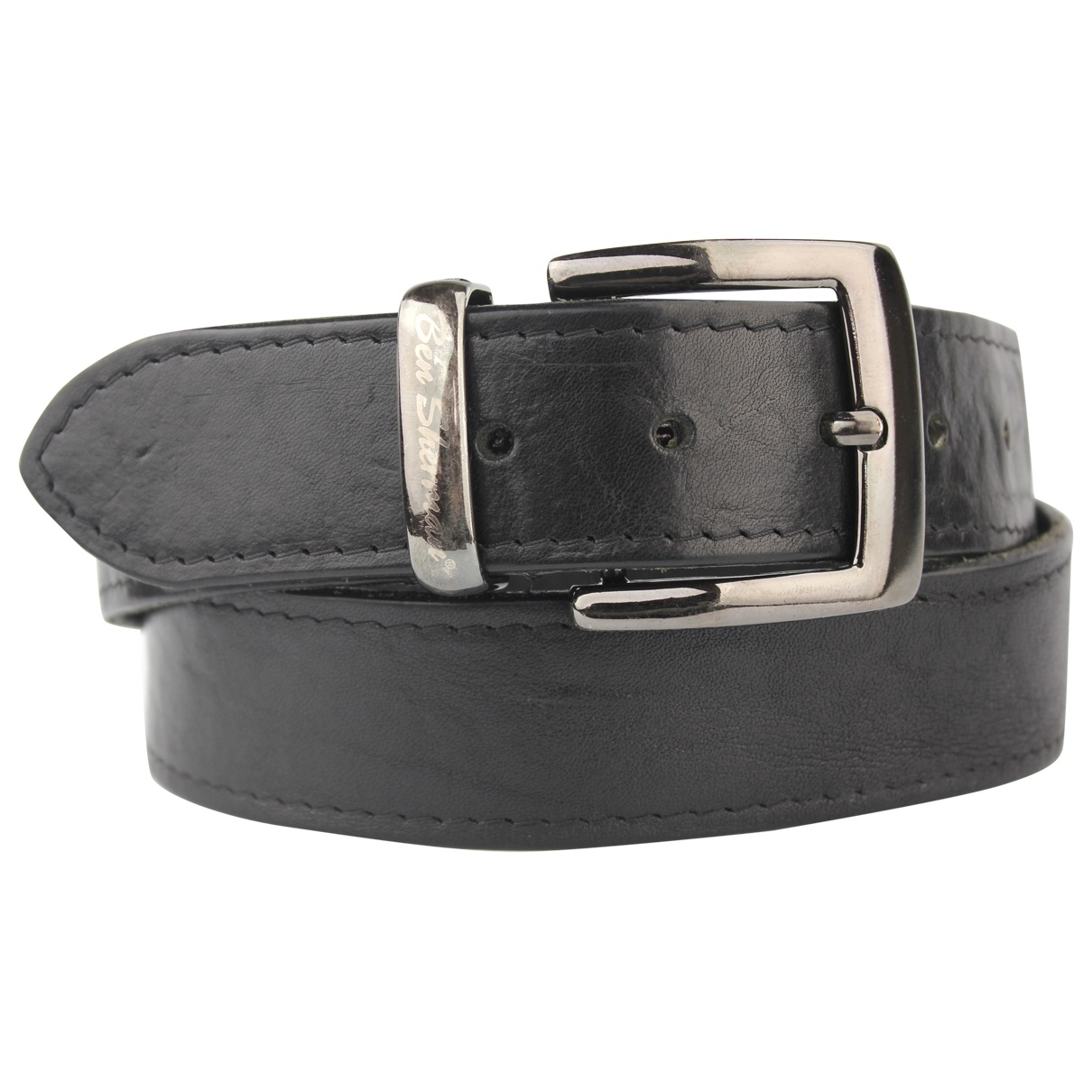 Non Signé / Unsigned \N Black Leather belt for Men 33 Inches