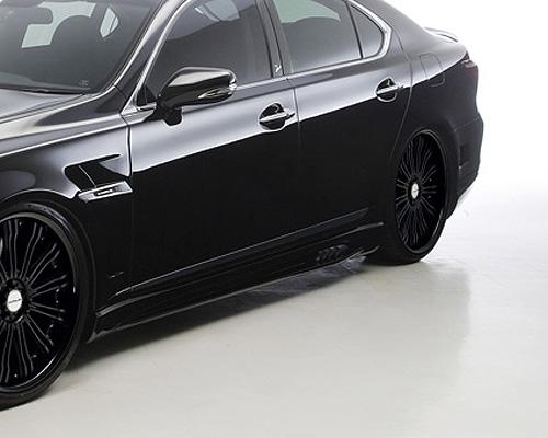 Wald International LS600.BB.SS.10 Black Bison Side Skirts Lexus LS600hL 10-12
