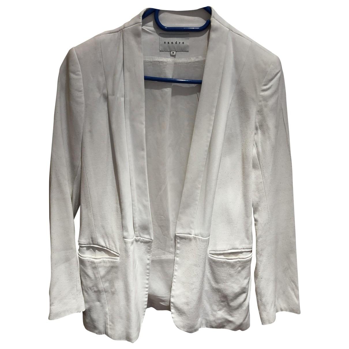 Sandro \N White jacket for Women 38 FR
