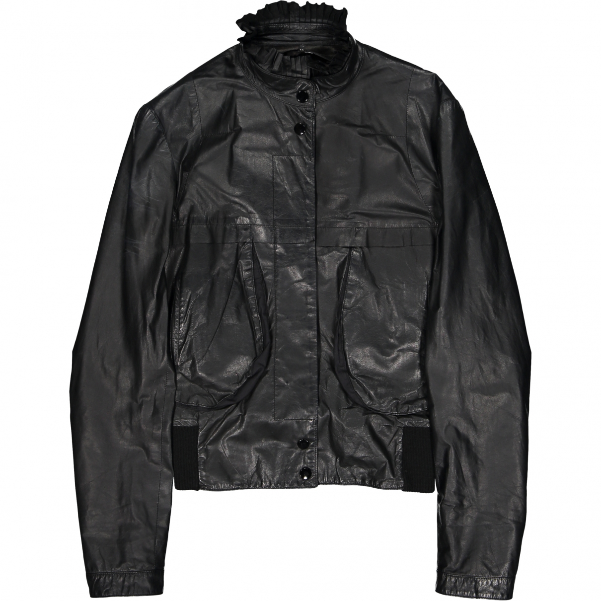Non Signé / Unsigned \N Black Leather jacket for Women 42 IT