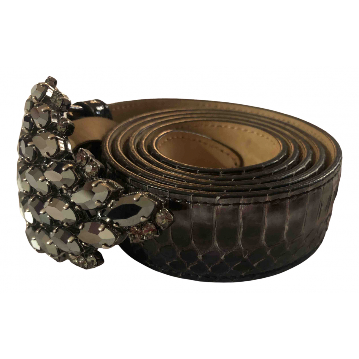 Etro \N Anthracite Leather belt for Women 85 cm