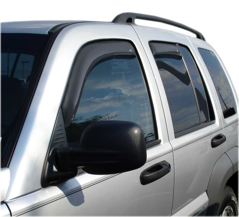 AVS 194428 Ventvisor In-Channel Front & Rear Window Deflectors 4pc - Smoke Jeep Liberty 2002-2007