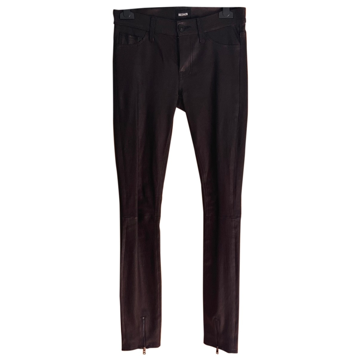 Hudson \N Black Leather Trousers for Women One Size US