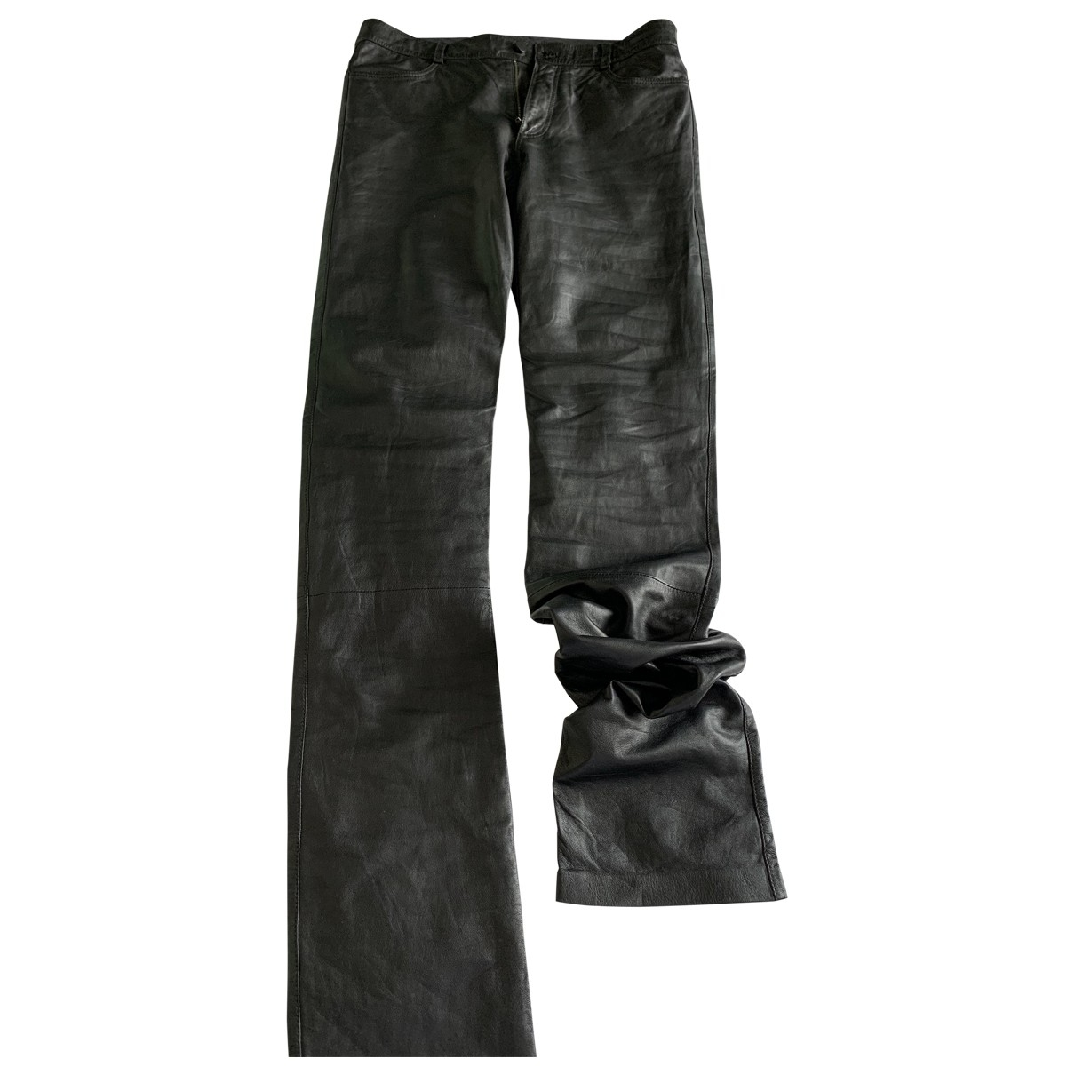 Alexander Wang \N Black Leather Trousers for Men 48 IT