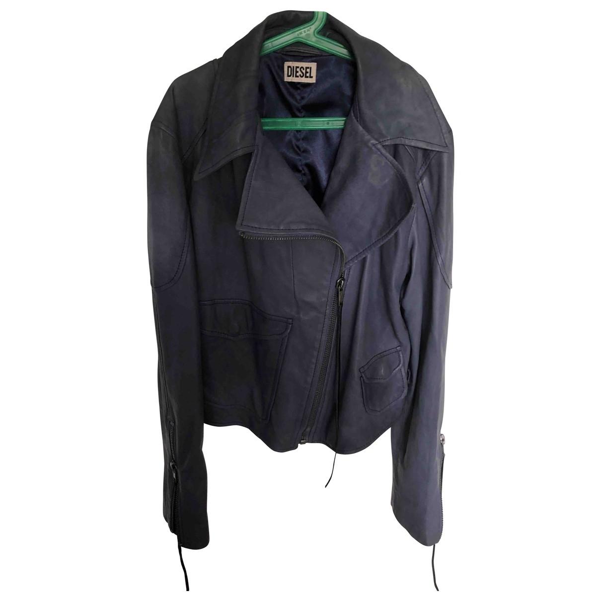 Diesel \N Fur Leather jacket for Women L International
