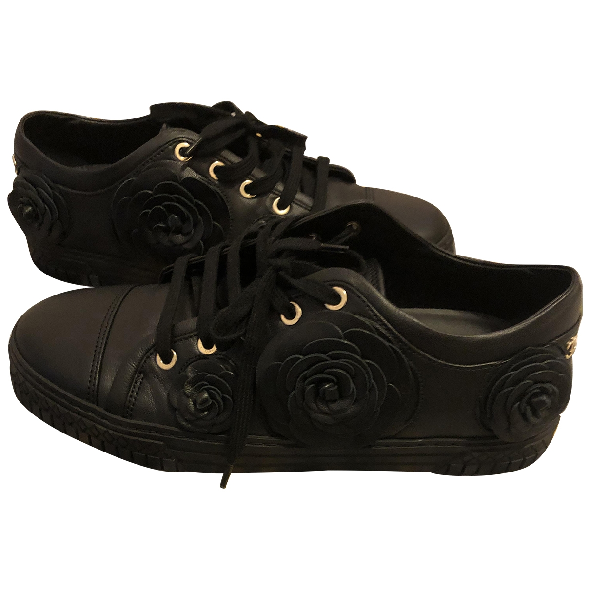 Chanel \N Black Leather Trainers for Women 36.5 EU