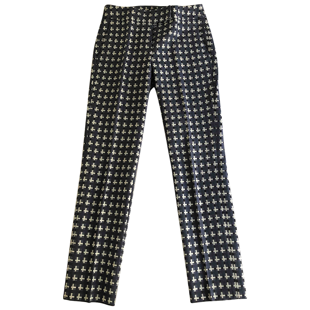 Max & Co \N Blue Cotton Trousers for Women 36 FR