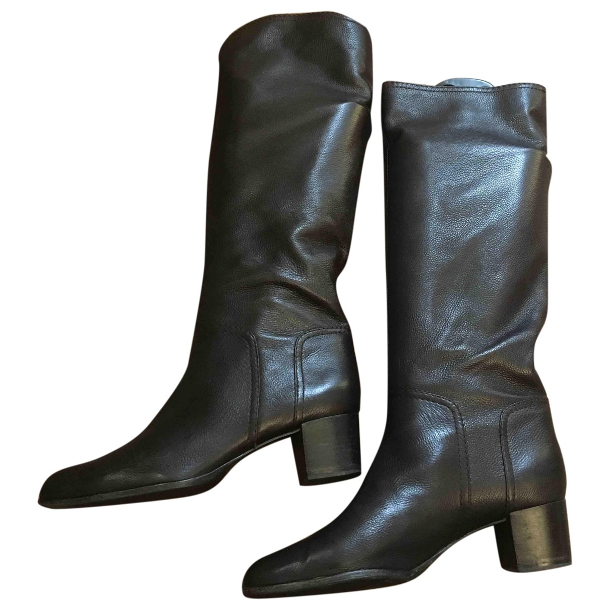 Sergio Rossi \N Brown Leather Boots for Women 40 EU