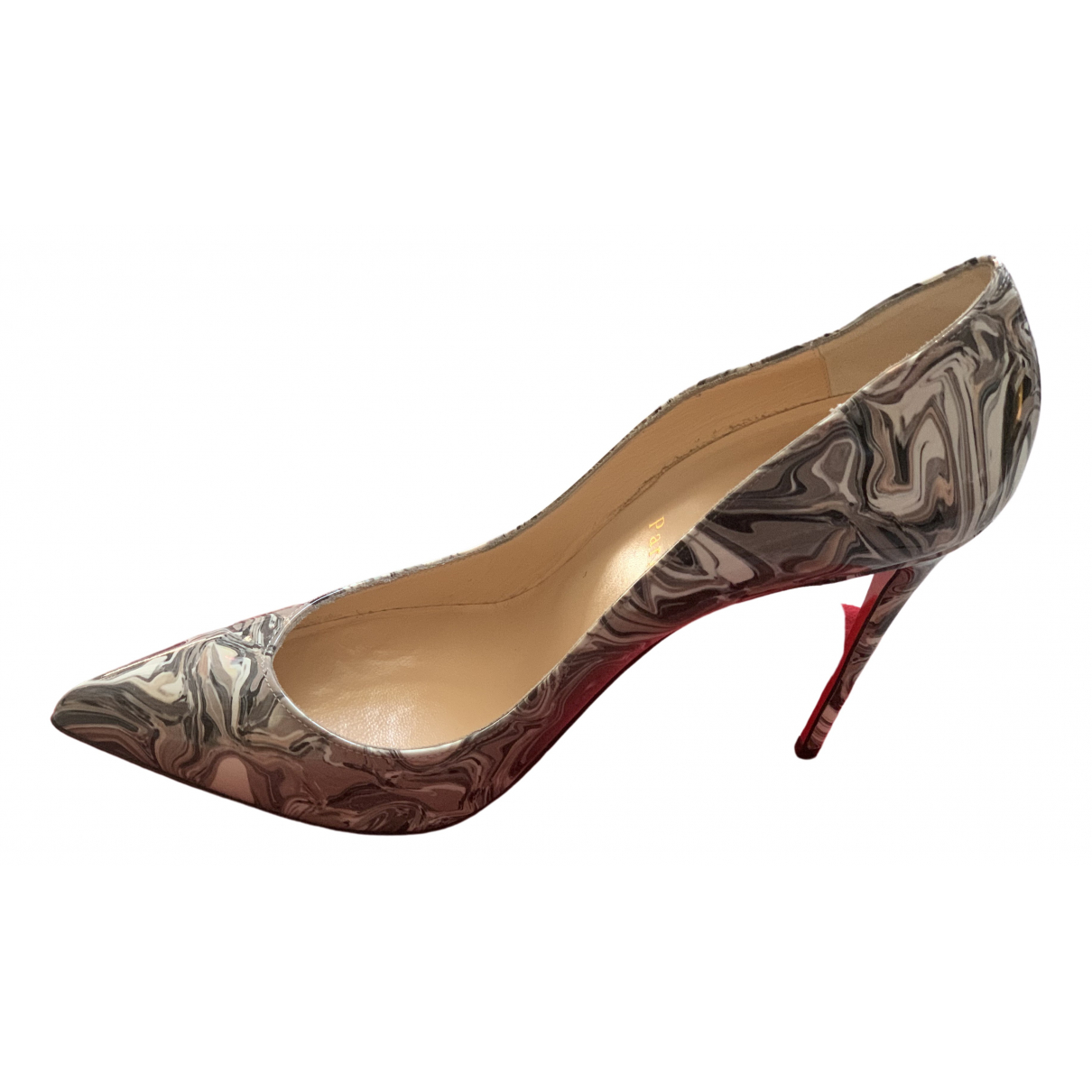 Christian Louboutin Pigalle Grey Patent leather Heels for Women 39.5 EU