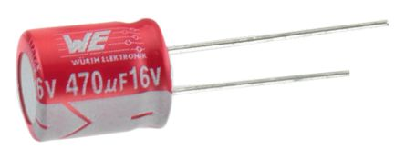 Wurth Elektronik 220μF Polymer Capacitor 16V dc, Through Hole - 870135374003 (5)