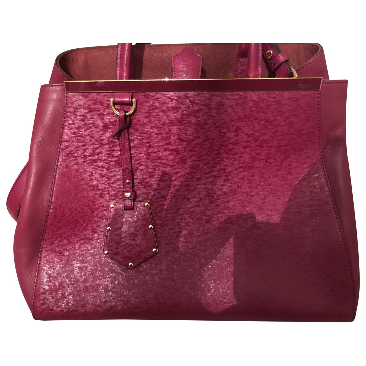 Fendi 2Jours Burgundy Leather handbag for Women \N