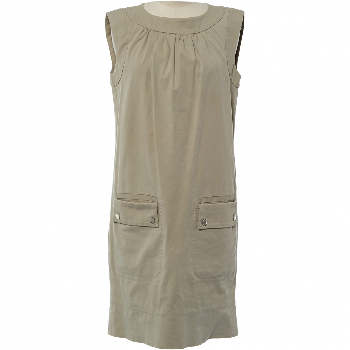 Dolce & Gabbana \N Beige Cotton dress for Women 40 IT