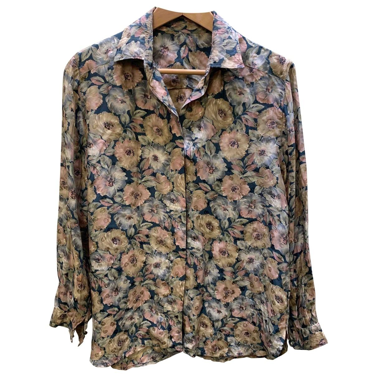 Non Signé / Unsigned \N Multicolour Silk  top for Women 42 IT