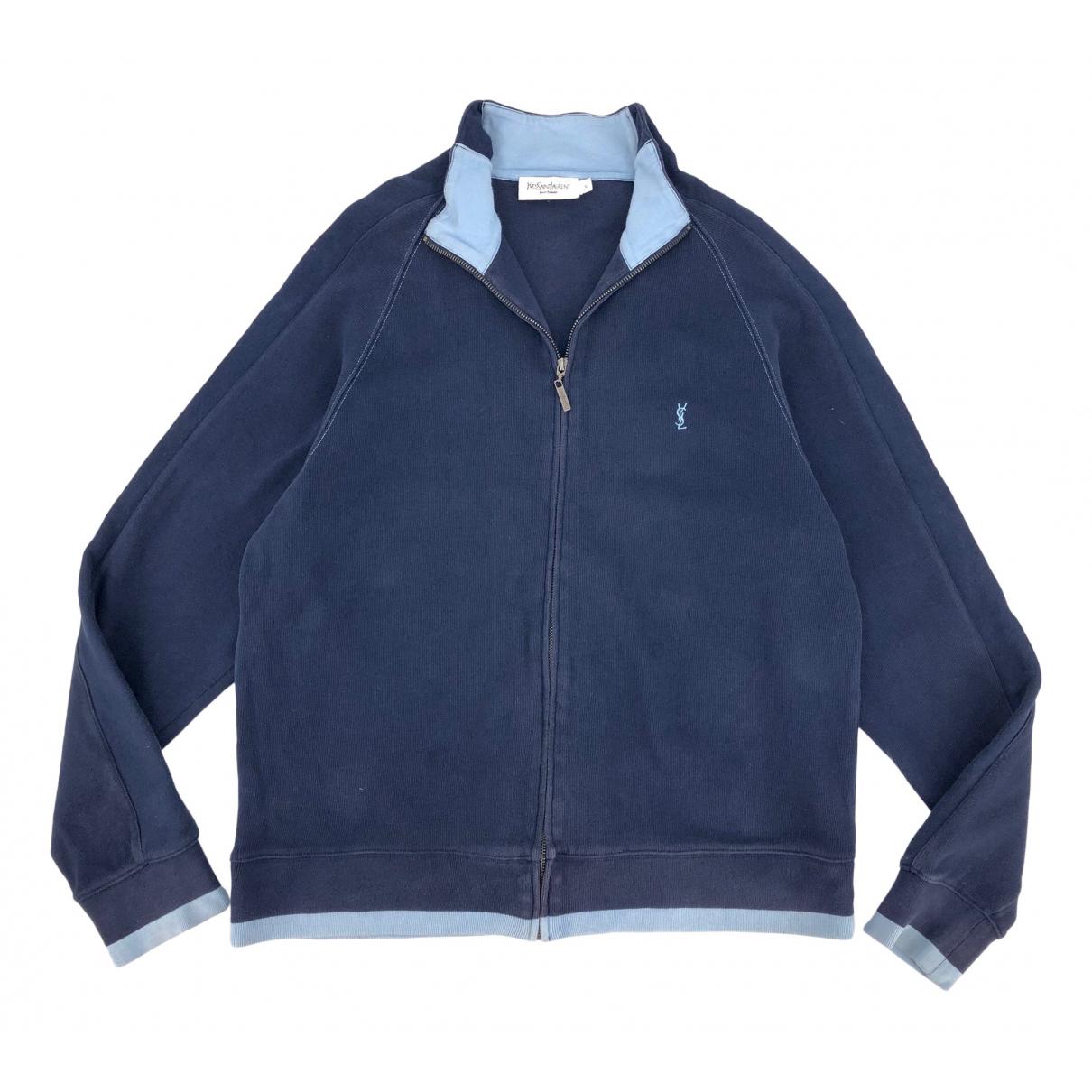 Yves Saint Laurent \N Blue Cotton Knitwear & Sweatshirts for Men XL International
