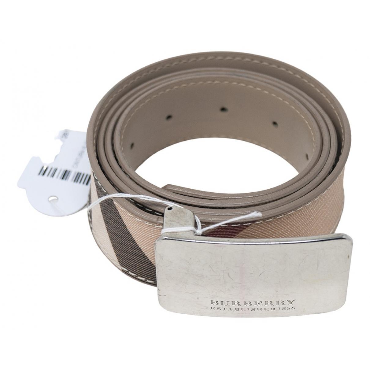 Burberry \N Beige Leather belt for Women XS International