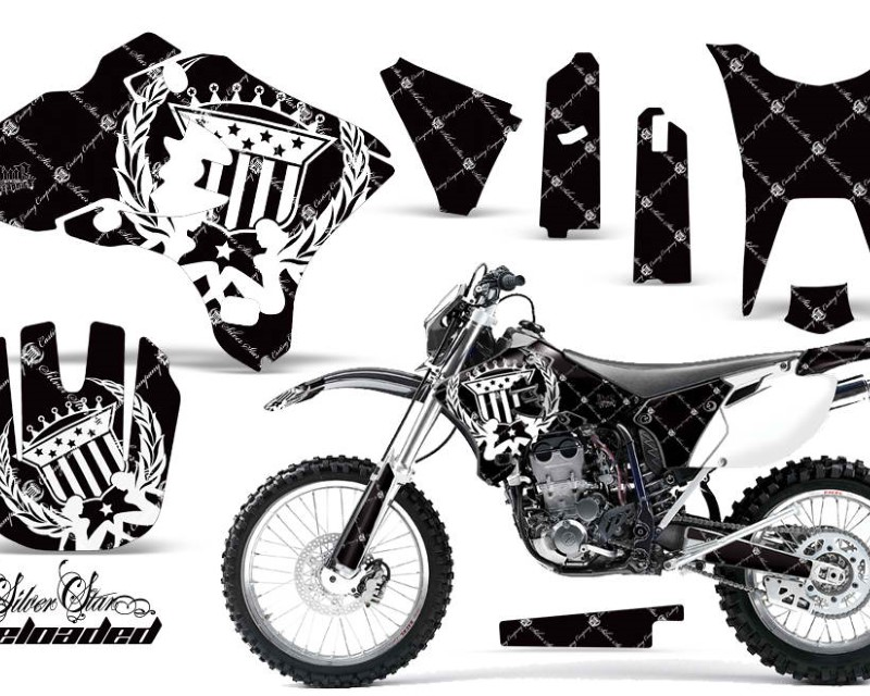 AMR Racing Dirt Bike Graphics Kit Decal Wrap For Yamaha WR250F WR450F 2003-2004áRELOADED WHITE BLACK