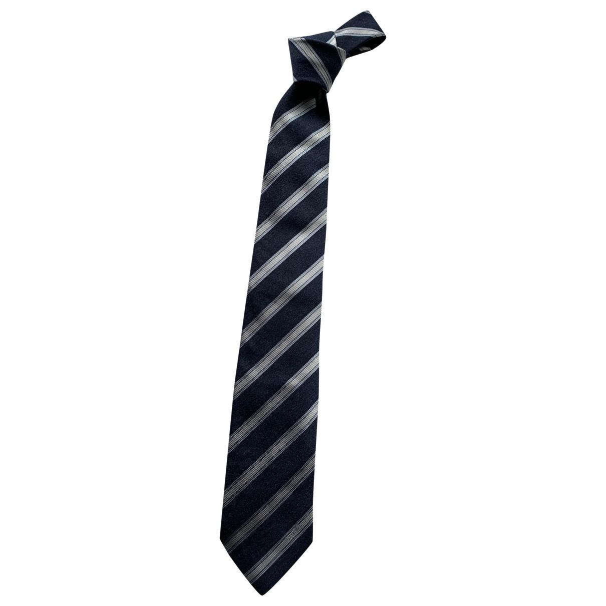 Loewe \N Navy Silk Ties for Men \N