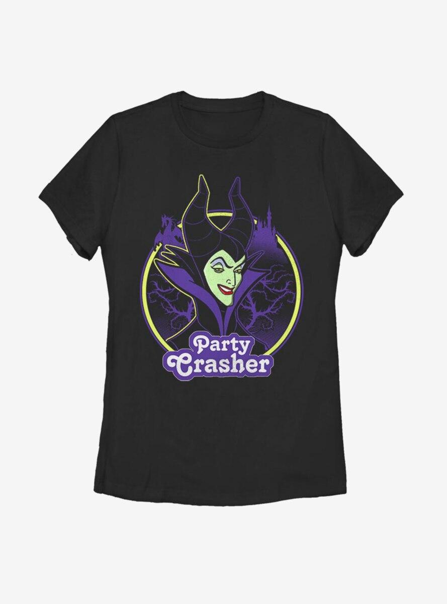 Disney Sleeping Beauty Maleficent Party Crasher Womens T-Shirt
